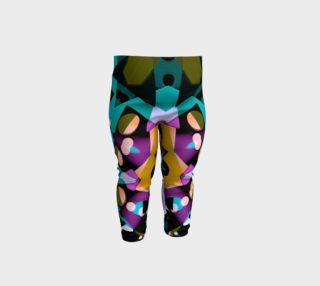 Digital Futuristic Geometric Pattern Print Baby Leggings preview