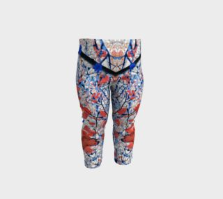 Floral Pattern Digital Collage Print Baby Leggings preview