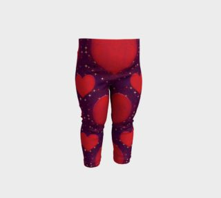 Galaxy Hearts Grunge Style Pattern Baby Leggings preview