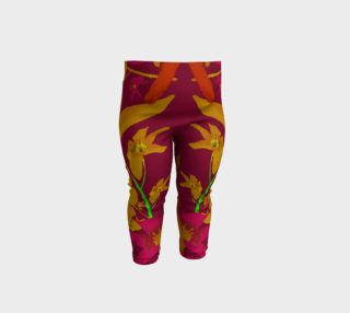 Tropical Hawaiian Style Lilies Collage Baby Leggings preview