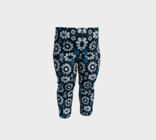 Floral Print Seamless Pattern in Cold Tones Baby Leggings preview