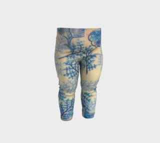 1950s Blue Ferns Baby Leggings preview