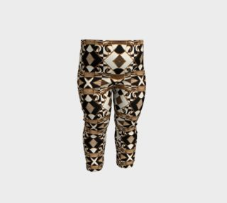 Geometric Tribal Style Pattern in Brown Colors Baby Leggings preview