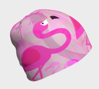 Flashy Flamingo Beanie by Deloresart preview