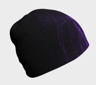 Purple Fractal on Black Beanie preview