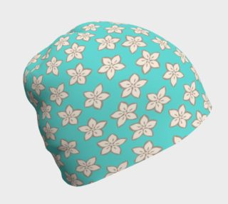 Cream and Turquoise Floral Print preview