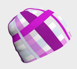 Purple Gingham Beanie preview