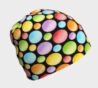 Aperçu de Rainbow Polka Dots Beanie