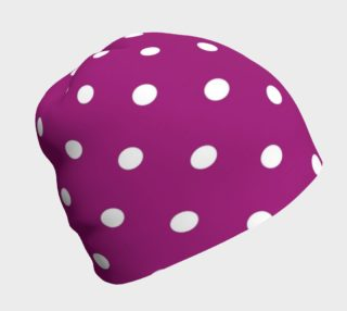 1950s Purple with White Polka Dots Beanie preview