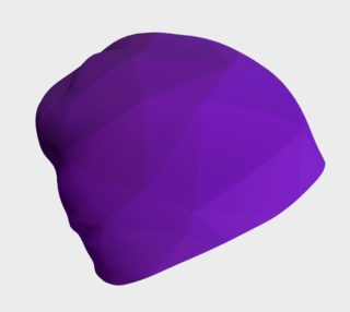 Purple Low Poly Beanie preview