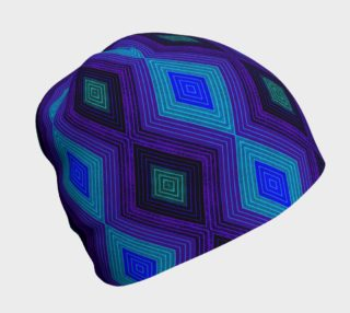 Dark Geometric Beanie preview