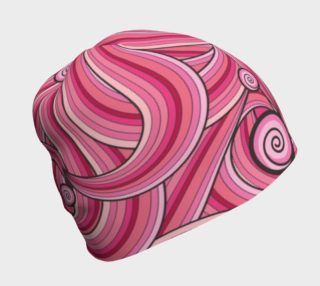 Pink Cotton Candy Swirl beanie preview