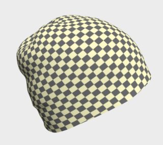 GREY & LINEN CHECK BEANIE preview