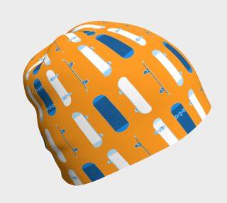 Blue Skateboards on Orange preview