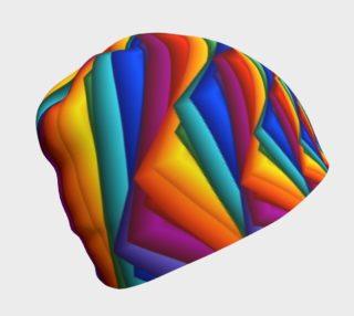Aperçu de Psychedelic Rainbow Spiral Beanie