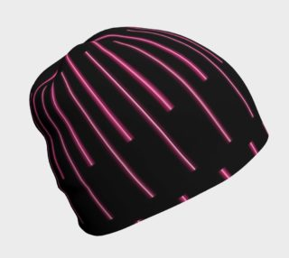 Pink Neon Lines Beanie preview