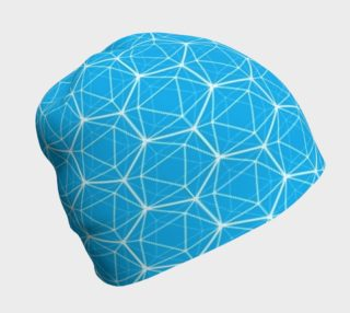 Icosahedron Bright Blue Beanie preview