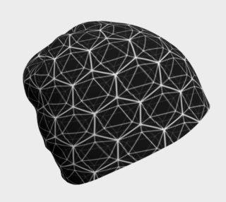 Icosahedron Black Beanie preview
