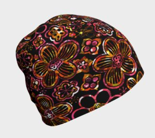 Colorful Stained Glass Look Whimsical Floral Beanie preview