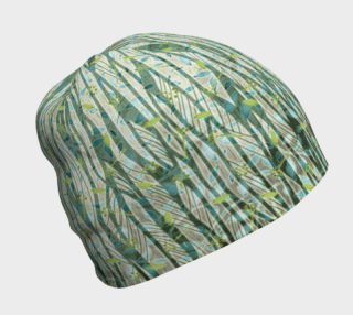 Aperçu de Blue Green Black Nature Floral Beanie Hat