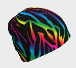 Rainbow Zebra Beanie preview