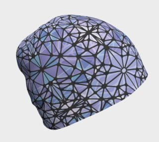Purple and Blue Kaleidoscope Beanie preview