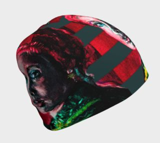 Girl with the Devin Earring Fashion Beanie preview