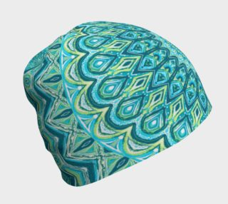 Tasty Turquoise Mandala Beanie preview