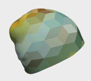 Geometric Green Tone Cube Pattern preview