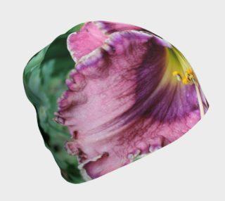 Aperçu de winter rainbow daylily and poppies  hat