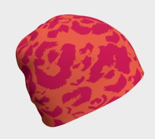 Bright Pink and Orange Graphic Animal Print preview