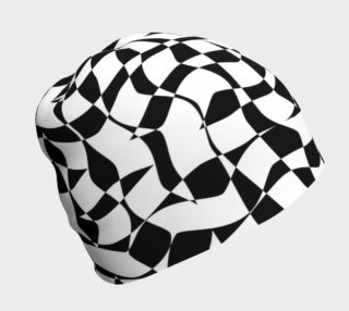 Black and White Organic Wavy Checkered Pattern preview