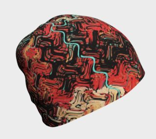 Modern Abstract Squiggly Lines Red Black Turquoise preview
