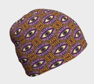 Circular Evil Eye Pattern in Orange and Purple preview
