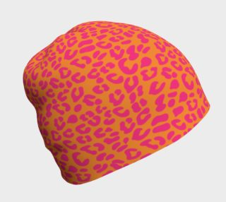 80s Leopard Print Pattern in Orange and Hot Pink preview
