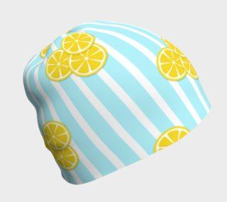 Lemon Slices on Light Blue Stripes preview