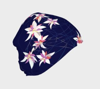 Blue Pink Floral Beanie preview