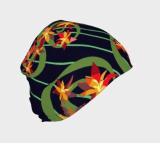 Fire Red Floral Design Beanie preview