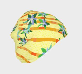 Tropical Yellow Floral Beanie preview