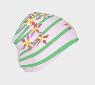 Pink Floral Inspired Beanie preview