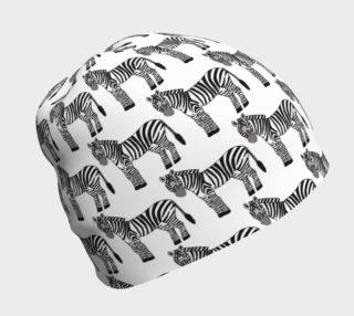 zebra beanie preview