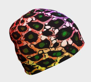 Rainbow Cheetah Beanie  preview