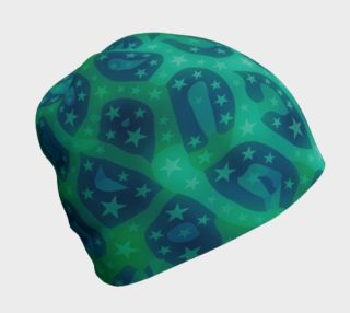 Lime Blue Cheetah Stars Beanie  preview
