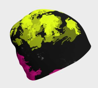 Neon Paint Splatter Beanie preview