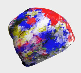 Messy Paint Splatter Beanie  preview