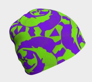 Psychedelic Abstract Purple Beanie  preview