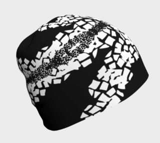 Black White Spotted Beanie  preview