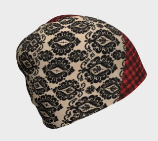 Aperçu de Red Plaid and Lace Goth Beanie by Tabz Jones