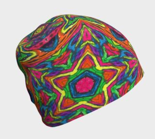 Aperçu de Rainbow Stars Abstract Art Beanie by Tabz Jones