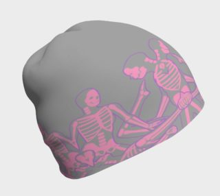 skeletal pattern hat preview